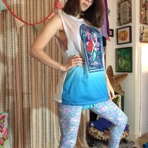 Disney Tops - The Little Mermaid Ariel Cut Out Beach Tank